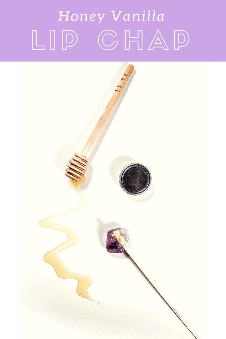 Lovely Vanilla Honey Homemade Lip Balm Recipe. | MadeWithOils.com