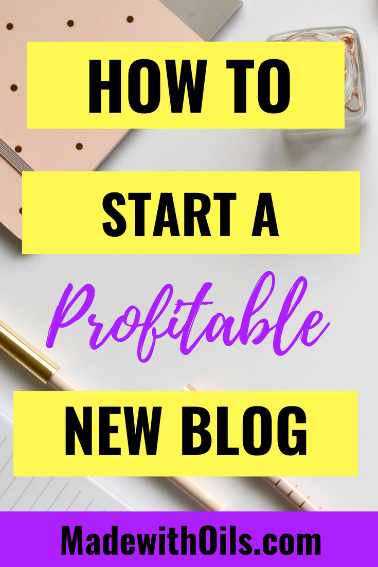 Learn how to start a blog so you can get time and financial freedom from your regular job and start to make money blogging! | MadeWithOils.com