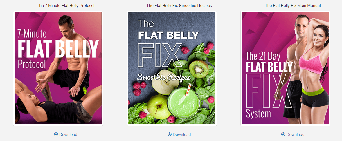 The Flat Belly Fix Bonuses
