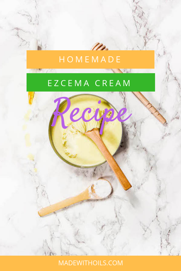Currently struggling from Eczema? Try this all natural homemade Eczema cream recipe. | MadeWithOils.com