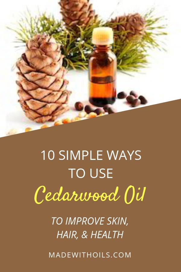 Learn how cedarwood essential oil can help you improve your hair, skin, & health. | Madewithoils.com