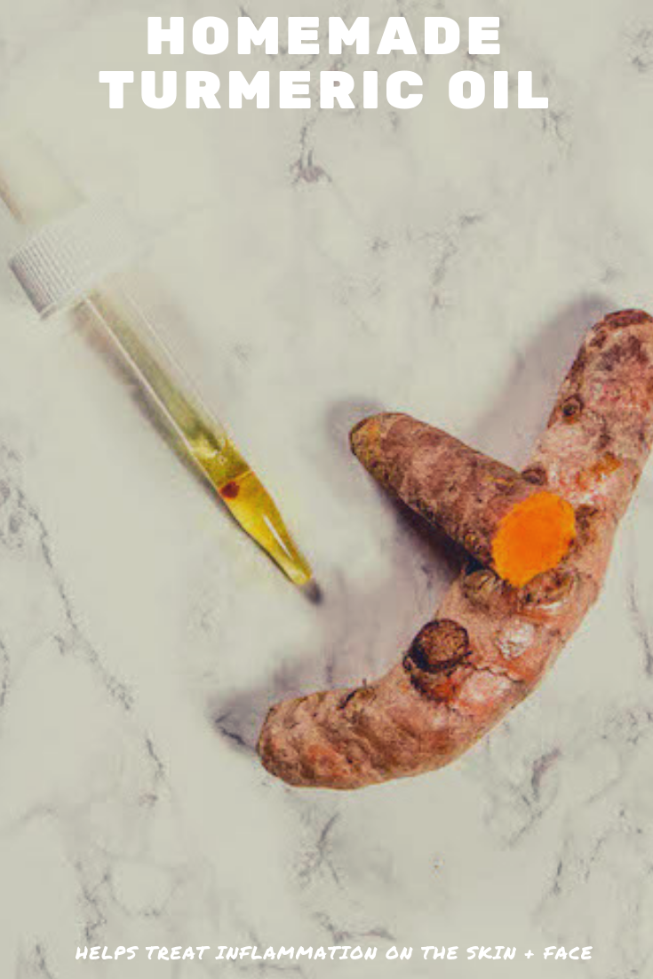 Simple homemade turmeric oil recipe that helps with inflammation for you skin and face. | Madewithoils.com