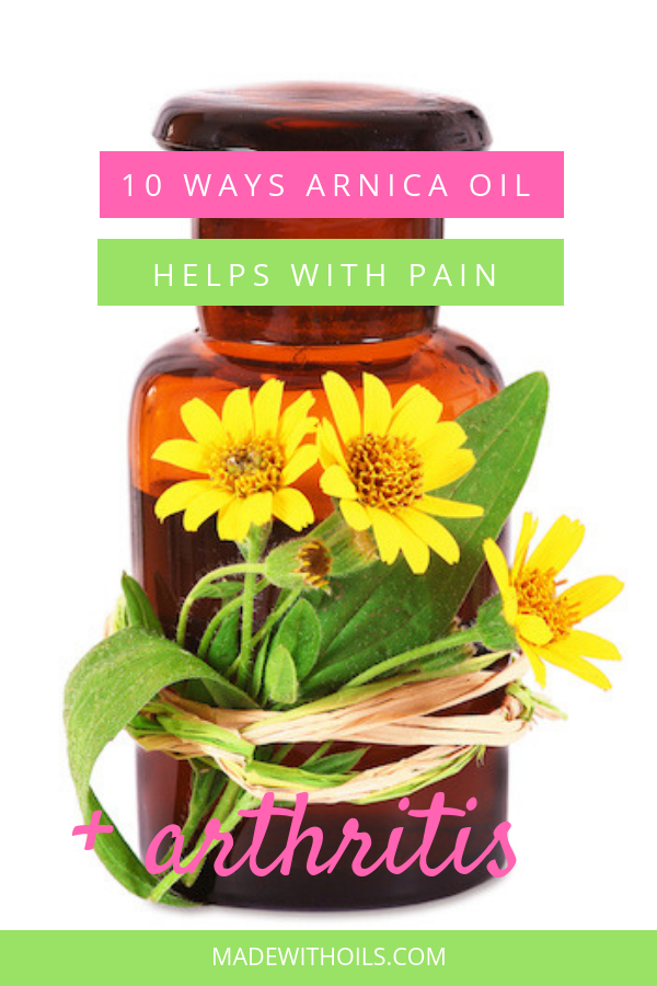 Did you know arnica oil can help you eliminate your pain? Learn about the 10 ways it can help you. | Madewithoils.com