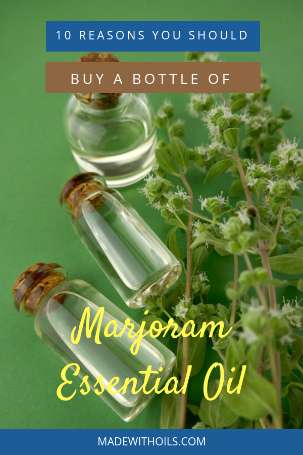 Here are 10 reasons why you need to grab yourself a bottle of marjoram essential oil. | MadeWithOils.com