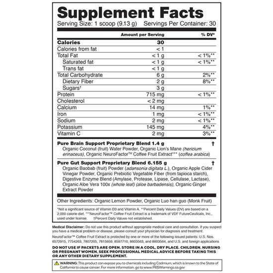 organifi pure ingredients