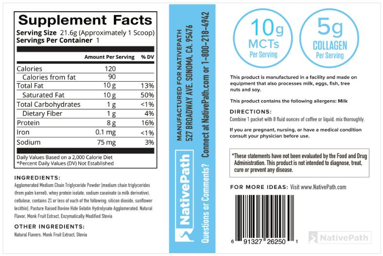 Keto Collagen Coffee Creamer Nutrition