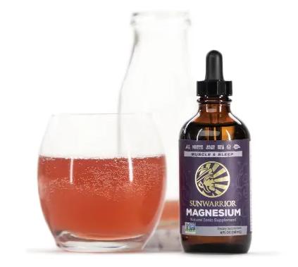 Sunwarrior magnesium liquid with drink